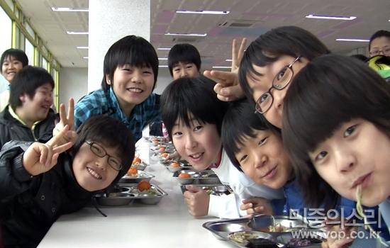 무상급식을 받는 아이들 @경기도 성남시