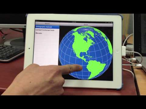 map projection for ipad